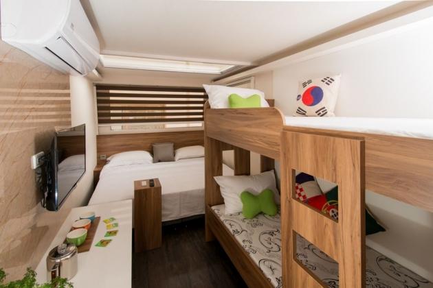 房型1,四人房(Q size雙人床+上下舖)  - 車號 1、7、10、11、12、13、14 1