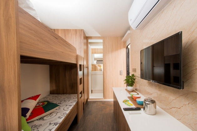 房型1,四人房(Q size雙人床+上下舖)  - 車號 1、7、10、11、12、13、14 3