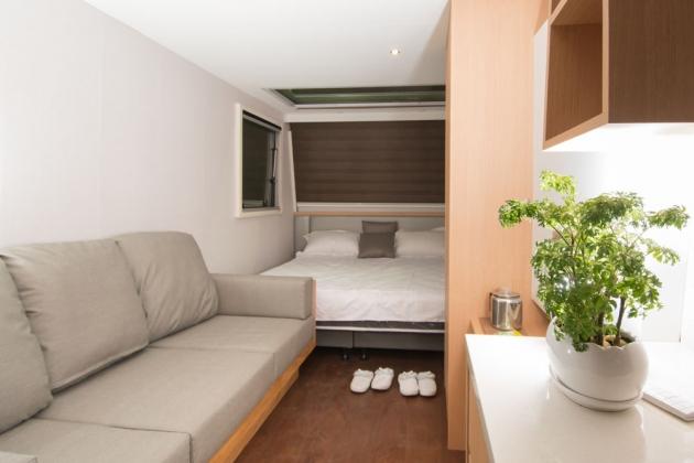 房型8,兩人房(Q size雙人床+沙發) –車號 18:露營時光Ⅱ 1